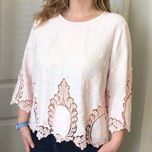 Linen & Lace blouse